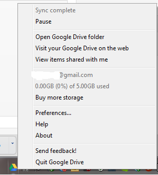Google drive optoins