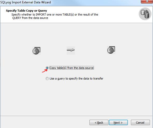 SQLYog import CSV step 4