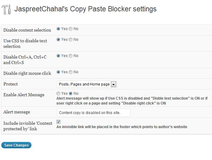 jcwp copy paste blocker options